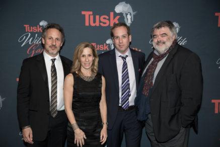 TMFS_Tusk Wildlife Gala 2017_DSC_9526 Richard Ladkani, Carol Tomko, Kief Davidson, Walter Koehler