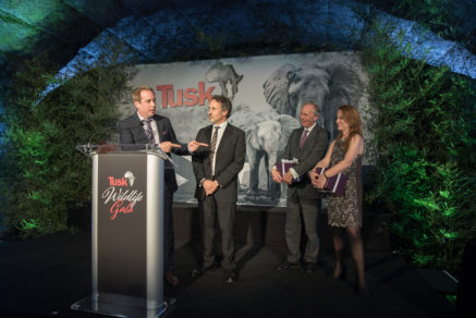 TMFS_Tusk Wildlife Gala 2017_DSC_9882 Kief Davidson, Richard Ladkani, Charlie Mayhew, Ellen O'Connell